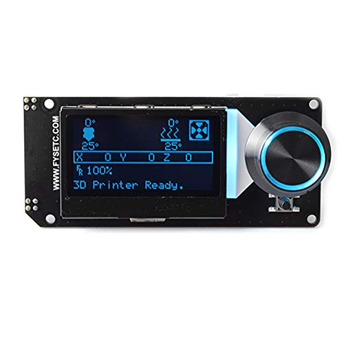 12864 LCD Controller mit SD-Kartenslot für 3D Drucker Kit Zubehör, 12864 LCD Smart Display Display Controller Modul mit Potentiometer Knopf und Kabel, B Lcd-kabel-kit