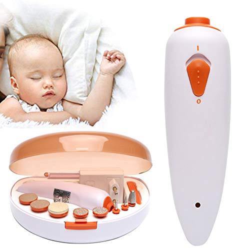 Baby Nagelschere Kit, Sicher Elektrisch Baby Nagel Trimmer Nagel Schermaschinen Zum Neugeborene, Baby Erwachsene Polieren Pflege Einstellen, 9 Austauschbar Mahlen Köpfe -