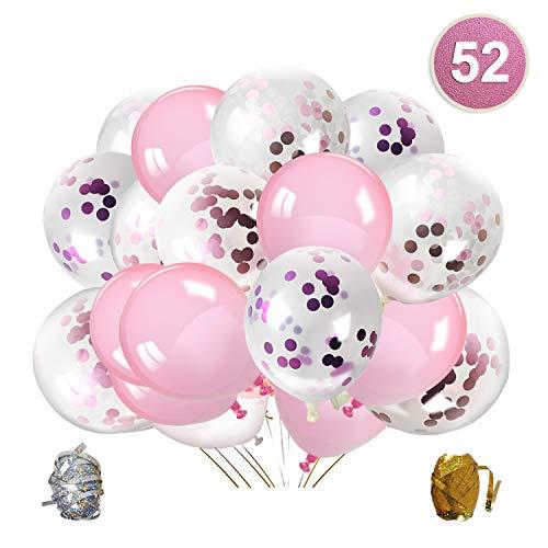 Or Rose Confettis Ballons Fête B...