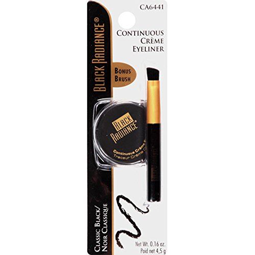 Black Radiance Continuous Creme Eyeliner, Classic Black, 0.18 Ounce by Black Radiance