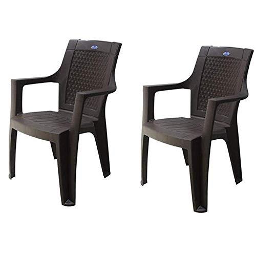 Nilkamal Plastic Chair Rosa Set of 2 (Red)