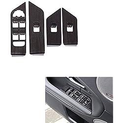 AUTO Pro pour Land Rover Range Rover Aurora - Bouton de lève-vitre intérieur de Cadre en Bois foncé - Autocollants en ABS pour intérieur de Voiture