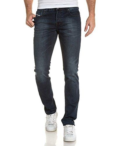 BLZ jeans - jean bleu slim délavé pour homme Bleu