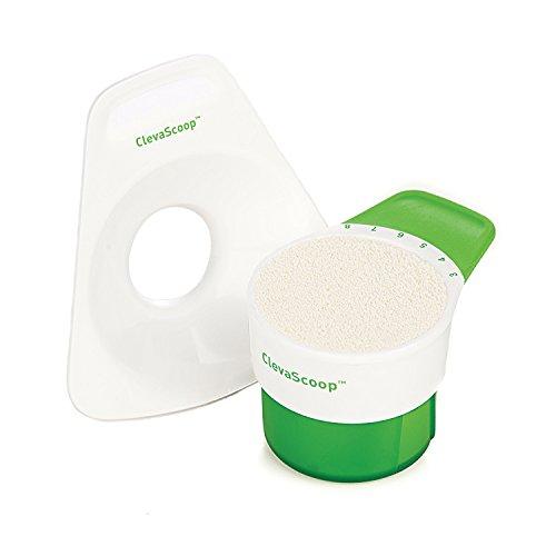 Clevamama 7004 ClevaScoop Milchpulver/Babynahrungs - Portionierungshilfe, grün