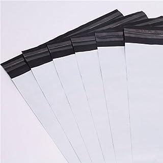logei® 100St Plastik Versandtaschen Versandtüten Folienversandtaschen Versandbeutel Warenbeutel aus Plastik für Kleidung und Textilien selbstklebend , undurchsichtig, 35cm x 45cm