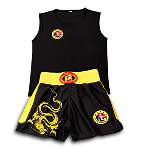 Fuyingda Unisex Erwachsene Kinder Martial Arts Kleidung Sanda Kleidung Anzug Muay Thai Kampf Kampf Training Kleidung Fitness Sport Shirt Weste Shorts