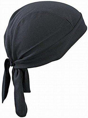 FakeFace Unisex Bandana Cap Kopftuch Kopfband Biker Hat Piratentuch in Verschiedenen Farben und Mustern Sport Fahrrad Schwarz