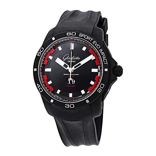 Glashutte Original Sport Evolution Impact orologio automatico da uomo con quadrante nero...