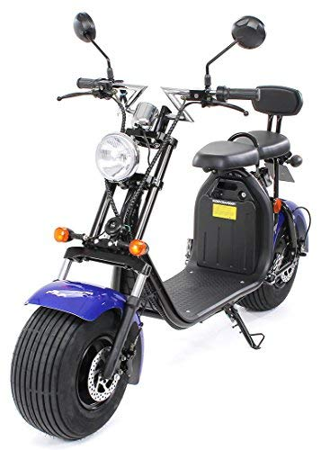 PEQUENENES Patinete Scooter EFLUX Harley 1500 W 60 V 20AH BATERIA Ion Litio (Azul)
