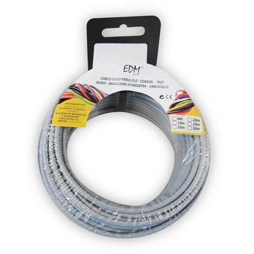 Angelrolle cablecillo flexibel 1,5 mm grau 15 m libre-halogeno