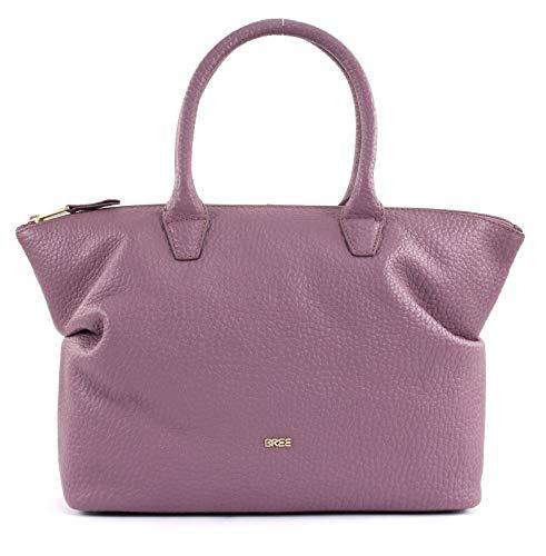 BREE Collection Damen, Grape Shake, Icon Bag M S19 Henkeltasche, Grün (Collection-leder-satchel)