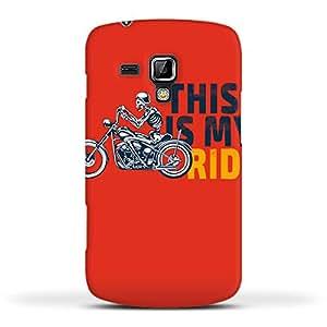 FUNKYLICIOUS Galaxy S Duos S7562 Back Cover Ride on Design (Multicolour)