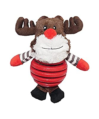 Rosewood Rubber Belly Rudolph Christmas Dog Toy