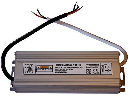 Preisvergleich Produktbild 20W-150W 12V DC LED Stromversorgung Netzteil - Travo Transformator Wasserdicht IP 67 Stripe (100 Watt)