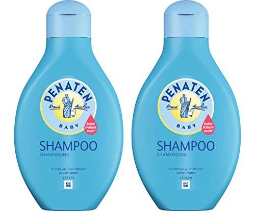 Penaten Shampoo 400ml – Mildes Shampoo für Babys für weiches und leicht kämmbares Haar – Keine Tränen mehr (2 x 400ml)