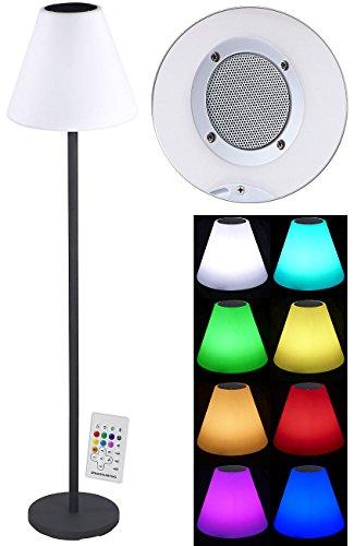 Lunartec LED Stehlampe: Solar-LED-Stehleuchte, Lautsprecher, Bluetooth, 7 Farben, 50 lm, 2,4 W (Solar-LED-Stehlampe)