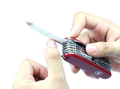 41k3oVilHGL - Victorinox Taschenwerkzeug Offiziersmesser Swiss Champ Rot Swisschamp Officer's Knife, Red, 91mm