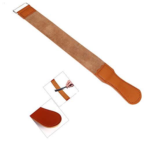 inherited Rasoio strumento per affilare, Coramella in vera pelle per affilatura rasoio a mano libera, per affilare tutti i tipi di lame e rasoi -marrone