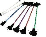 NIRVANA Profi Flowerstick Set mit Ultra-Starken Fiberglas Handstäbe mit 2 mm Super-Grip Silikon! Flames N Games Flower stick Set Für Kinder und Erwachsene. (Blau/Blue)