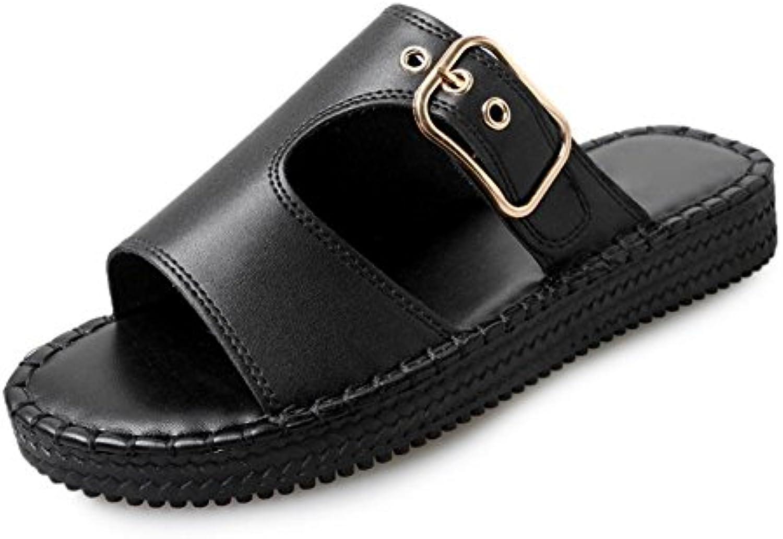 sandalias planas exteriores y zapatillas de arrastre mujeres palabra de desgaste exterior sandalias de los zapatos...