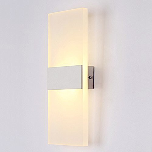 Aplique de pared led moderno de 6w luz cálida