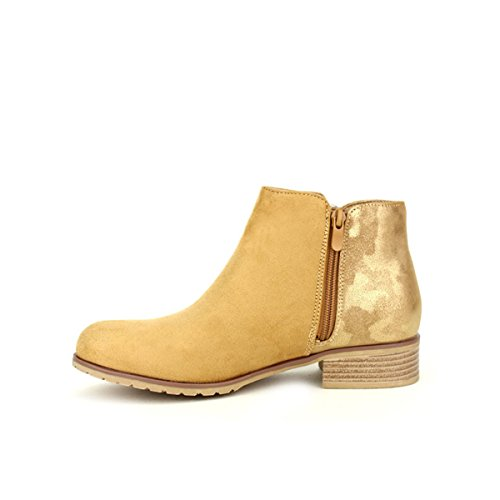 Cendriyon Bottine Simili Peau Sixth Sens Chaussures Femme Caramel