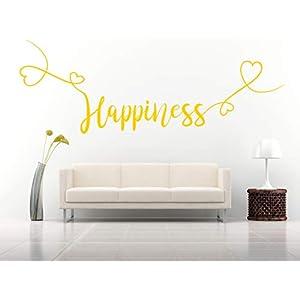 Happiness, Vinyl, Wandkunst Aufkleber, Wandbild, Aufkleber. Haus, Wanddekoration, Küche, Esszimmer, Schlafzimmer.