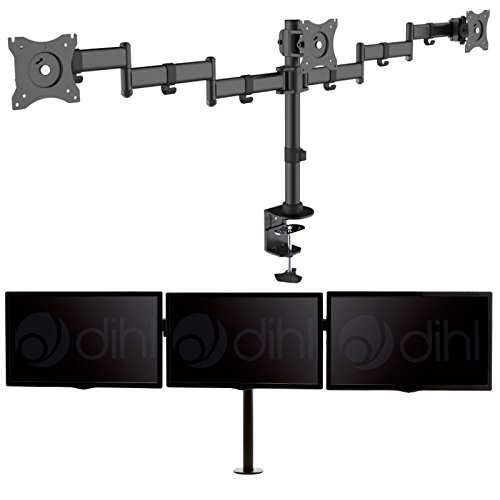 dihl-three-arm-adjustable-desk-mount-bracket-stand-for-13-27-inch-lcd-led-computer-monitor-screen-bl