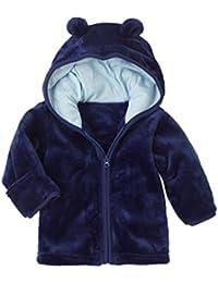 Abrigo Caliente Bebé, Internet Niños Bebés Ropa Super-Brotando Chaqueta De Terciopelo De Coral Encapuchado Cremallera Tops Outwear Abrigo Chaquetas Tibias