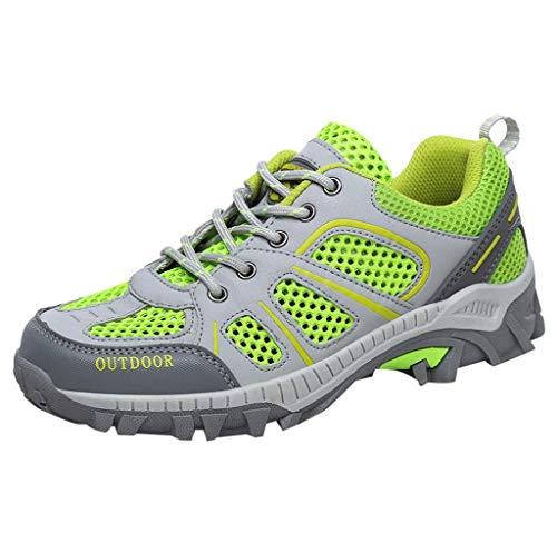 Jimmackey Scarpe da Trekking Donna Uomo Running Scarpe da Montagna All'aperto Mesh Respirabile Antiscivolo Sneakers