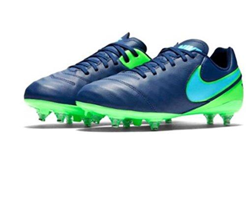 Nike 852500-443, Chaussures de Football Garçon Bleu