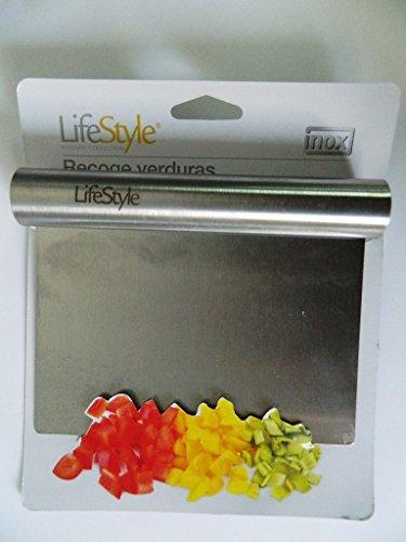 Ramasse pelle légumes inox plancha 15 cm x 11,5 cm. Inox de qualité supérieure. Passe au lave-vaisselle