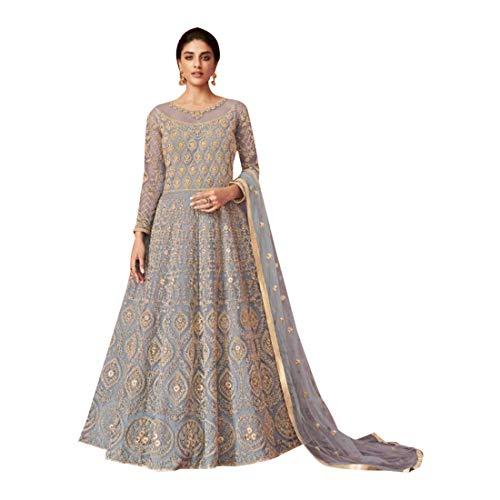 SHRI BALAJI SILK & COTTON SAREE EMPORIUM 8544 Indische schwere Schmetterlingsnetz Zari bestickt Anarkali Anzug muslimische Frauen kleiden festliche Partei tragen Semi-Stitch