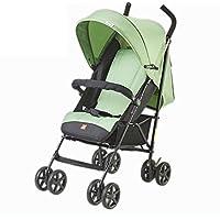 XUE Carrito de bebé, Paraguas Ultra Ligero portátil Puede Sentarse Plano y Doblar Amortiguador con