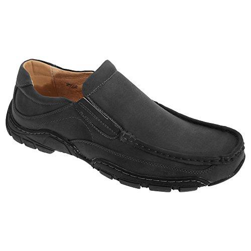 Goor Sapatos Mocassim Homens Negros