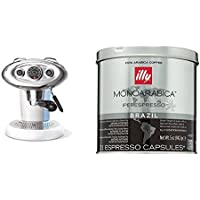 Francis Francis for Illy X7.1 Expresso Coffee Maker, White with illy Iperespresso Monoarabica Brazil 21 Espresso Capsules, 141g (Pack of 1, Total 21 Capsules)