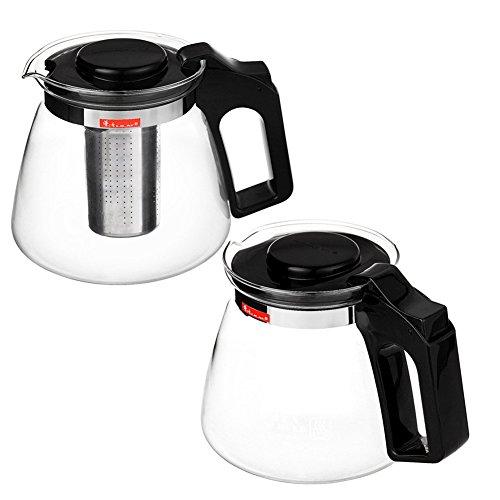 Xagoo Teekanne Glas mit Herausnehmbarem Edelstahlsieb 1.5 Liter