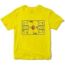 JEMASHOP Camiseta Hombre Amarilla NBA. Partido del Siglo. Leyendas. Jordan Bird Magic Lebron