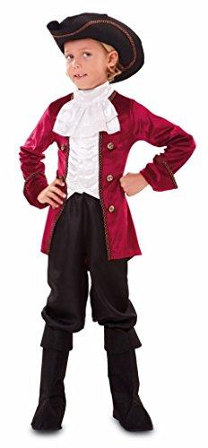 EUROCARNAVALES Disfraz de Pirata Granate Infantil - Niño, de 10 a 12 años