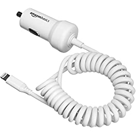 AmazonBasics – Caricabatterie per auto 5 V 2,4 A con cavo Lightning