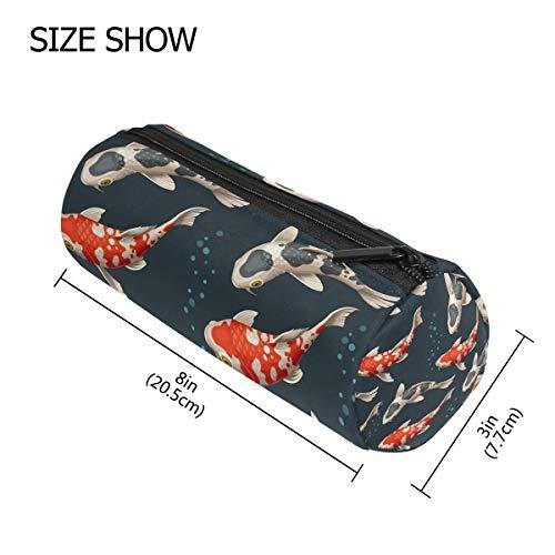 TIZORAX Koi Karpfen-Stiftmäppchen Stifteetui mit Reißverschluss, für Münzen, Make-up, Kostüm-Tasche für Frauen Teenager Mädchen Jungen ()
