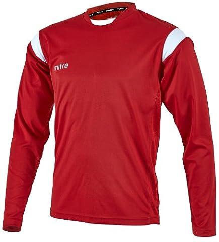 Mitre Motion Maillot de football unisexe pour adulte rouge Rouge/Blanc X-Large/46-48 Inch