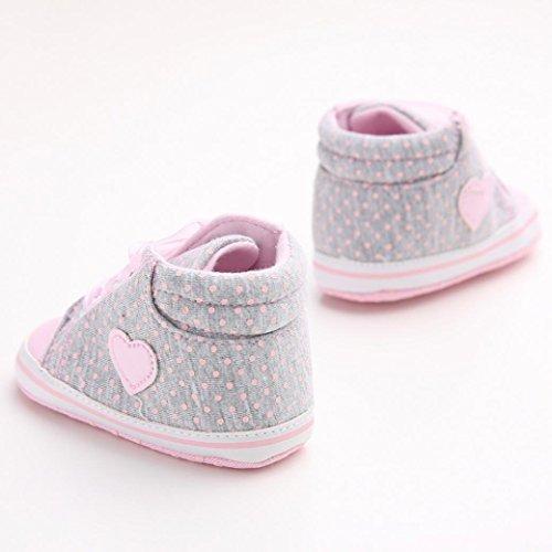 Kleinkind Anti rutsch 11cm Grau Schuhe Mädchen Grau Krabbelschuhe Weiche Sneaker Canvas Sohle Ularma Baby zY1xXp1