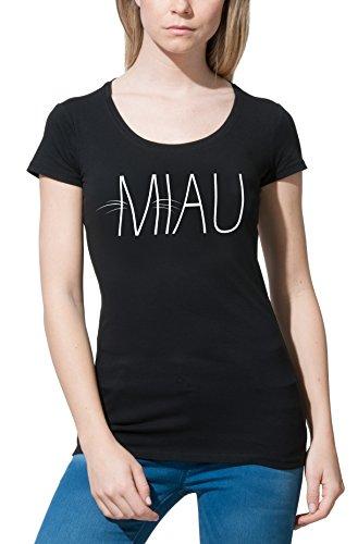 Katze Damen T-Shirt mit witzigem Print