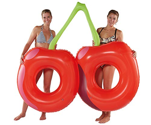 Lively Moments Doppel - Schwimmring Kirsche / Schwimmreifen für 2 Personen ca. 180 x 164 x 24 cm