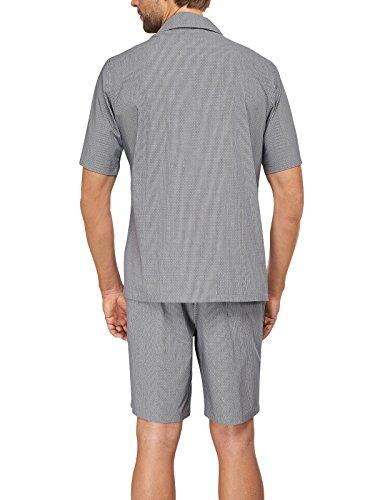 Schiesser Herren Pyjama Kurz 152200 Dunkelblau