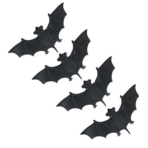 een Deko Fledermaus Set - Grusel-Dekoration für Horror oder Halloween-Partys - Dekor für Halloween ()