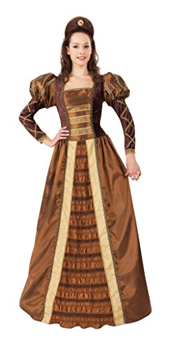 Ladies Golden Queen Costume for Royal Fancy Dress Outfit Adult by Partypackage ()