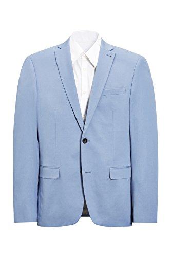 next Uomo Completo In Cotone: Giacca Vestibilità Slim Azzurro