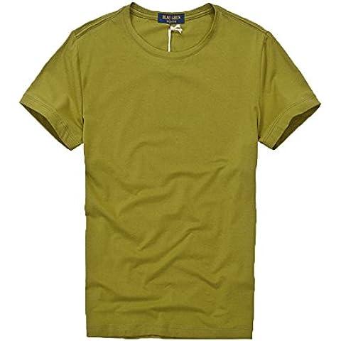 La Nuova Tendenza Di Uomini Semplici Collo Tondo In Cotone a Maniche Corte T - Shirt ()